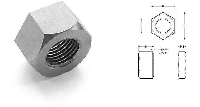 heavy hex nut photo and diagram